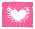 Free Valentine S Day Pink Heart Postcard Royalty Free Stock Photos - 18048238
