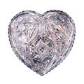 Free Blue Crystal Heart Isolated Royalty Free Stock Photos - 18049198