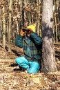 Free Senior Man With Binoculars Royalty Free Stock Images - 18049989