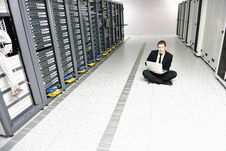 Free Young It Engeneer In Datacenter Server Room Stock Photo - 18040350