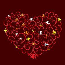 Free Decorative Heart Royalty Free Stock Photo - 18040615