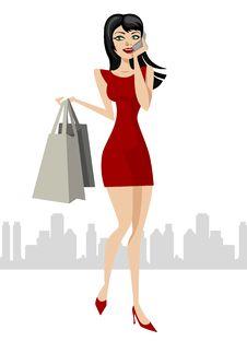 Free Shopping Girl Stock Image - 18040701