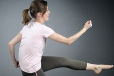 Adult Practicing Aerobics Stock Image