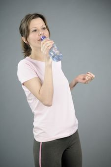 Free Instructor Drinking Water Stock Photo - 18042100