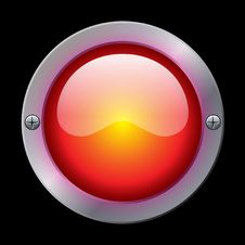 Gloss Button Metallic Royalty Free Stock Image