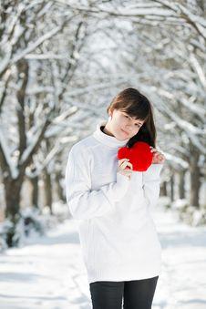 Free Teen Girl Heart In His Hands Stock Image - 18042311