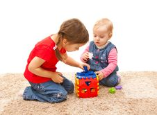 Free Playing Sisters Stock Images - 18042534
