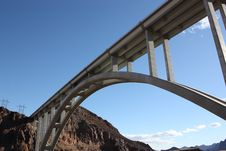 Free The Hoover Dam Bridge Stock Photography - 18043012