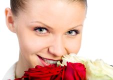 Free Young Women With Rose Stock Photo - 18043730