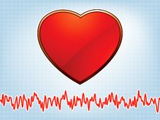 Heart And Heartbeat Symbol. EPS 8 Stock Images