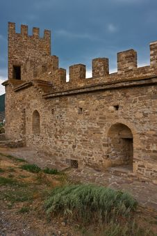 Genoese Medieval Fortress Stock Photography