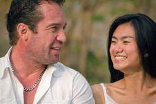 Free One Couple Talked Happily Stock Photo - 18044050