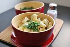 Free Tortellini With Parsley Royalty Free Stock Images - 18044109