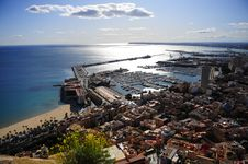 Free Sunny Harbour In Spain Stock Photos - 18044243
