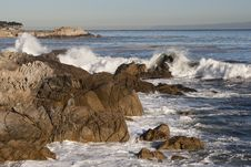 Free Central California Shoreline - Rocks & Waves Stock Photos - 18044333