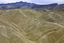 Free Eroded Landscape - Death Valley, CA Royalty Free Stock Images - 18044369