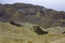 Eroded Landscape - Death Valley, CA Stock Photography