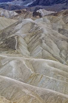 Barren Hills - Death Valley, CA Royalty Free Stock Photo