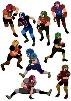 Cartoon Football Icon Royalty Free Stock Photo
