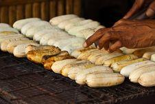 Free Barbeque Banana Stock Image - 18044921