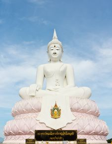 Free White Buddha Statue Royalty Free Stock Photography - 18045527