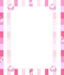 Free Pink Rose Frame Stock Photography - 18045832