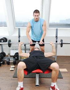 Free Man Fitness Workout Stock Image - 18045891