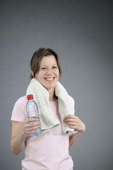 Free Fitness Instructor Drinking Water Stock Image - 18046861