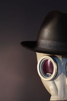 Free Gas Mask With A Hat Stock Images - 18046924