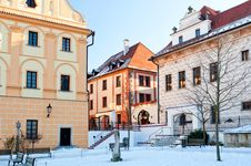 Free Historic Houses In Cesky Krumlov Stock Photography - 18047462