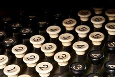Free Adding Machine Keys Royalty Free Stock Photos - 18047628