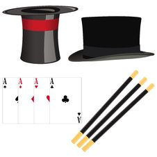 Free Magician Set Of Accessories Stock Photography - 18047672