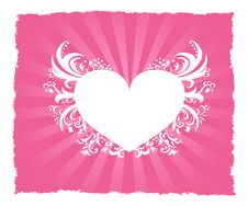 Valentine S Day Pink Heart Postcard Royalty Free Stock Photos