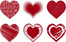 Free Valentines Hearts Royalty Free Stock Image - 18048366