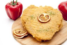 Free Escalope Raw With Paprikas Stock Photo - 18048840