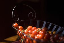 Free Cherry Tomato Basket Stock Photo - 18049080