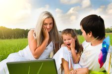 Free Family On Meadow Stock Image - 18049851