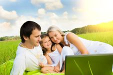 Free Family On Meadow Royalty Free Stock Photo - 18049915