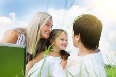 Free Family On Meadow Royalty Free Stock Photos - 18049988