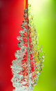Free Splash On Red & Green Stock Photo - 18052790