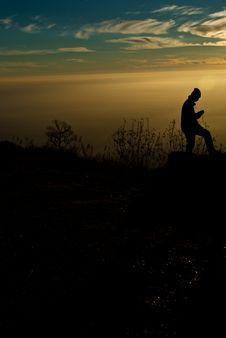 Free Silhouette Of Phu Tab Berk_1 Royalty Free Stock Photo - 18050145