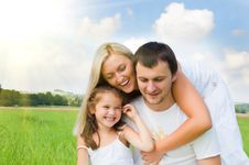 Family On Meadow Royalty Free Stock Image