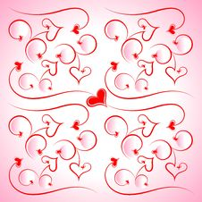 Free Pattern From Hearts And Scrolls Stock Photo - 18050610