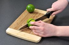Slicing Lime Stock Photos