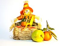 Halloween Toy With Fruits Stock Images