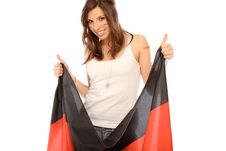 Free Woman With Flag Stock Photos - 18051733