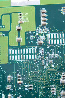 Close Up Of Computer Circuit Board Royalty Free Stock Image