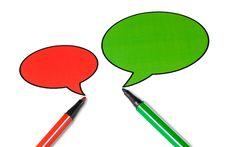 Free Blank Talking Speech Balloon Royalty Free Stock Image - 18053936