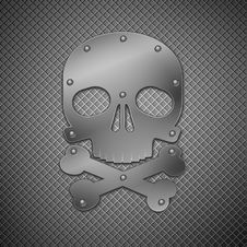 Free Metallic Skull Royalty Free Stock Images - 18054189