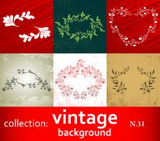 Free Collection Vintage Background Royalty Free Stock Photos - 18055478